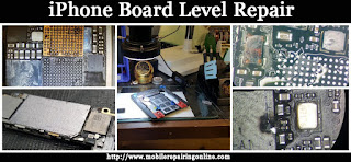 iPhone Board Level Repair start soldering micro resistor component leads solder joints