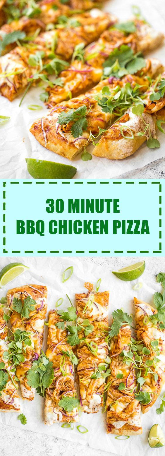 30 Minute BBQ Chicken Pizza