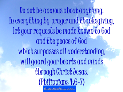 Do not be anxious about anything. In everything by prayer and thanksgiving, let your requests be made known to God and the peace of God which surpasses all understanding,  will guard your hearts and minds through Christ Jesus. (Philippians 4:6-7)