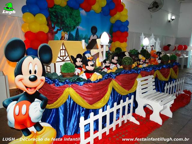 Ornamentação do Mickey para festa infantil