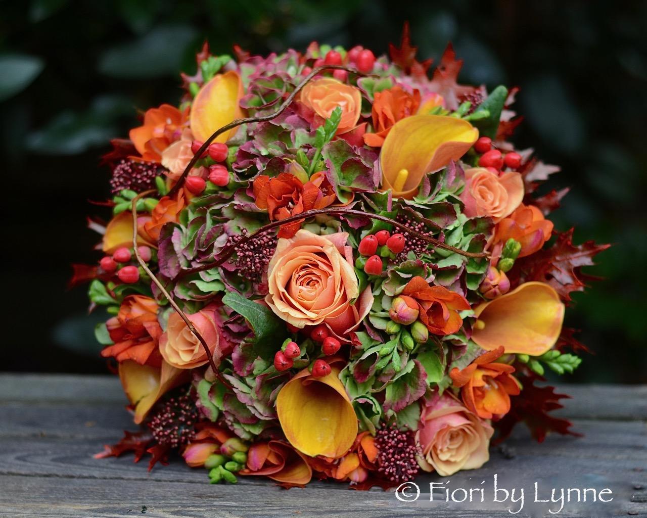 Ashleys Autumnal Wedding Flowers Rhinefield House