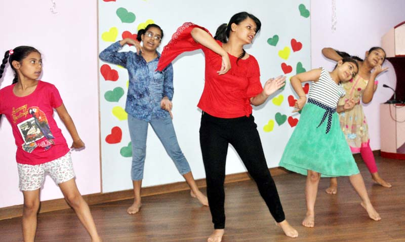 Students dance during Summer Camp Organized by Delhi Public Kids School