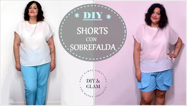 Diy shorts con sobrefalda