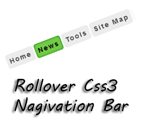 You tin come across a dainty vogue hover inward this card Rollover Css3 Navigation Bar for Blogger