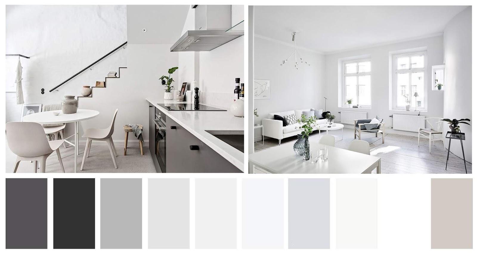 decoración estilo minimalista paleta de color