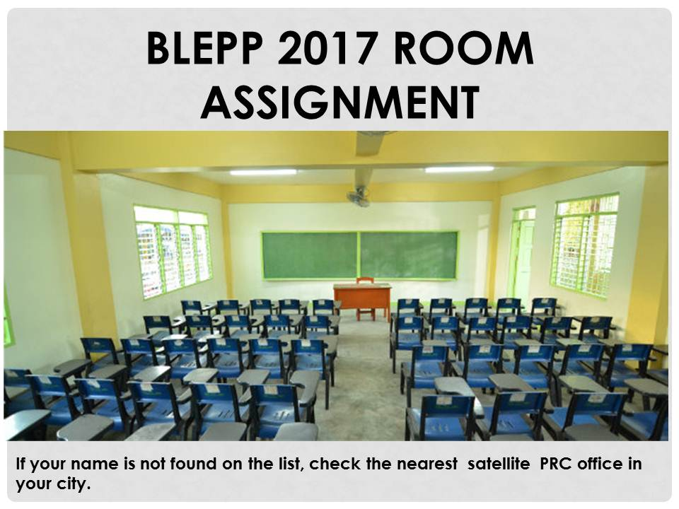 Prc Online Room Assignment