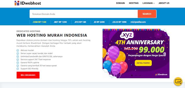 WEB HOSTING MURAH INDONESIA IDwebhost.com