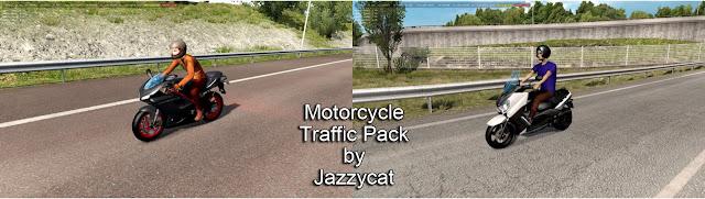 ats motorcycle traffic pack v2.8 screenshots 1, Ducati 848 Evo, Yamaha XMax