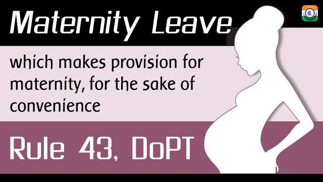 Maternity-Leave-DoPT-Order-Rule-43