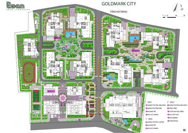 Mặt bằng cảnh quan Goldmark City