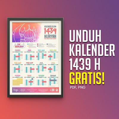 Template Kalender 1439 H Gratis + Jadwal Puasa Design Dakwah Islam Indonesia