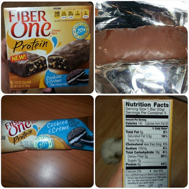 It is a photo of Obsessed Fiber One Bar Ingredient Label