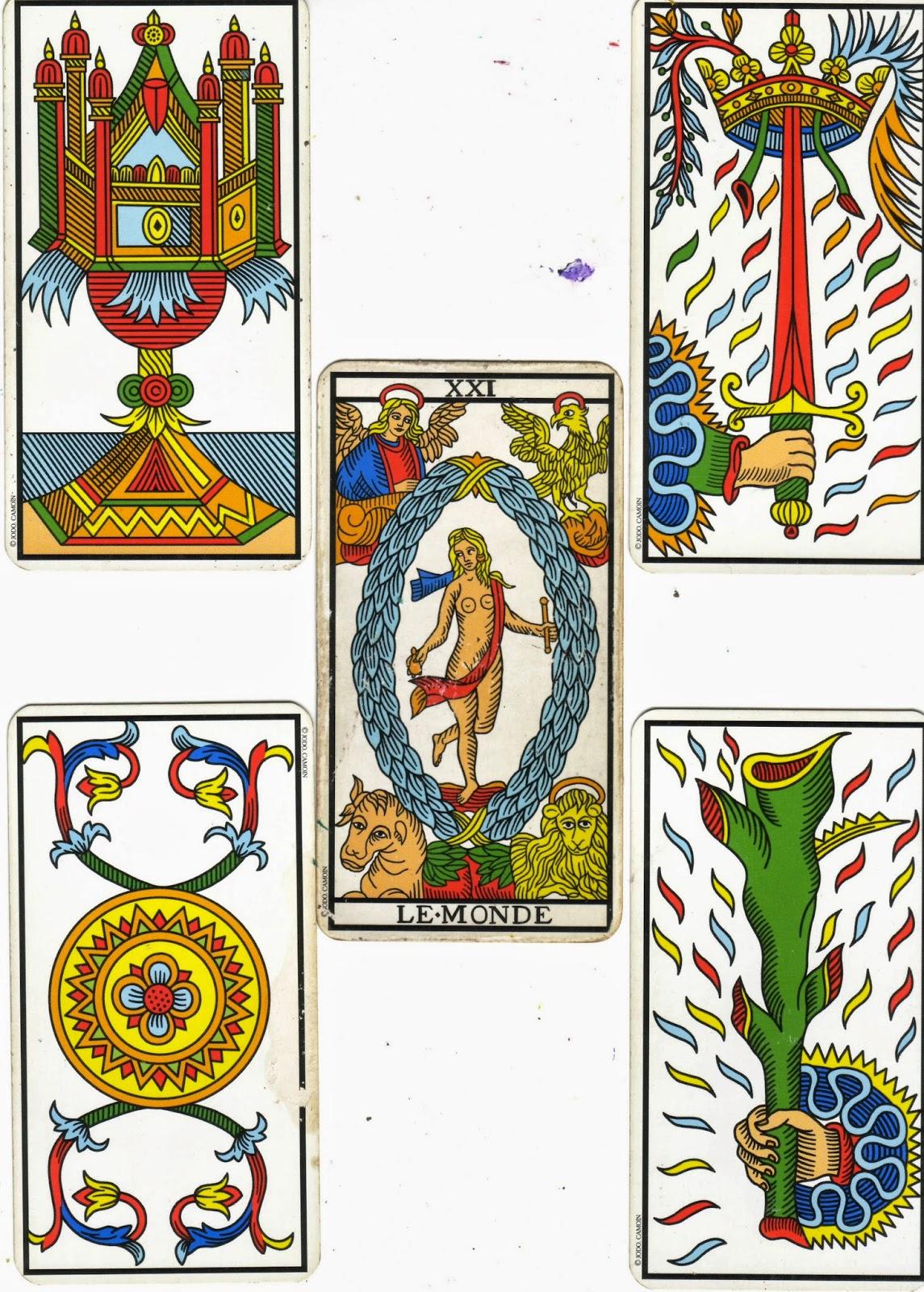 les 4 énergies du Tarot, dévelloppe la clairvoyance, la conscience intuitive