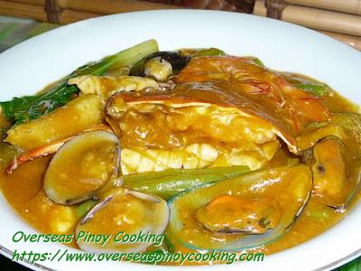 Seafood Kare-kare Dish