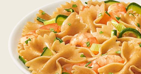 Gustosamente salute ricetta light farfalle con gamberetti for Ricette piatti freddi