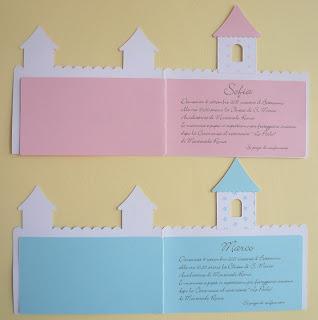 Lavori di carta blog partecipazioni battesimo castello - Col foglio rosa posso portare passeggeri ...