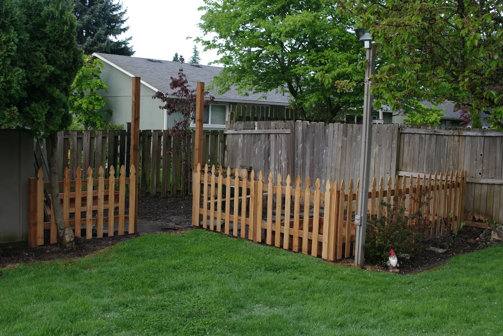homelifescience: Backyard Garden Fence-In Progress