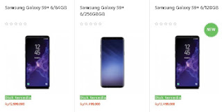 Harga Samsung Galaxy S9+ 3 Varian Memori Internal