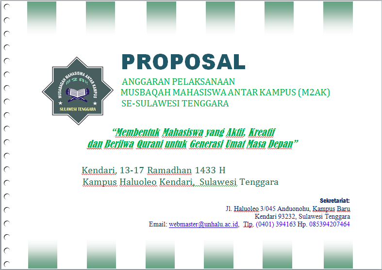 Contoh Proposal Musabaqah Antar Kampus Sq Blog