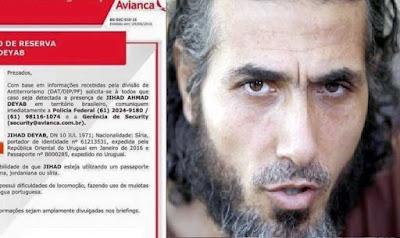 Terrorista sírio teria fugido para o Brasil, alerta companhia aérea