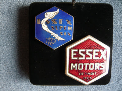 ESSEX radiator emblem badge vintage 1928 1929 1930 1931
