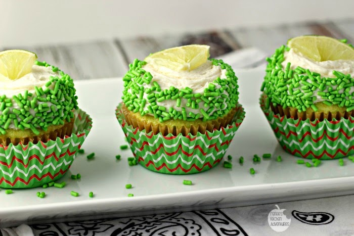 Margarita Cupcakes | Renee's Kitchen Adventures: Pimped up boozy cupcakes that taste like your favorite drink!