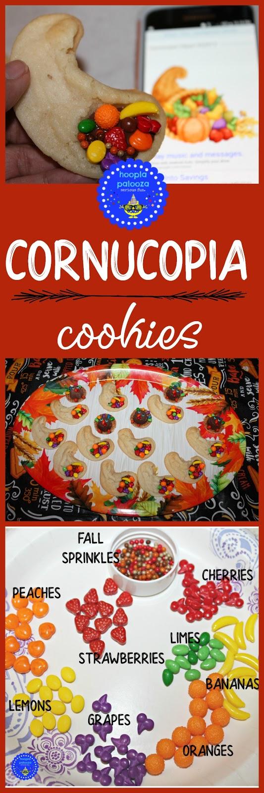 HOOPLA PALOOZA THANKSGIVING CORNUCOPIA COOKIES