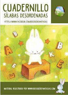 Material didáctico - Cuadernillo de silabas desordenadas