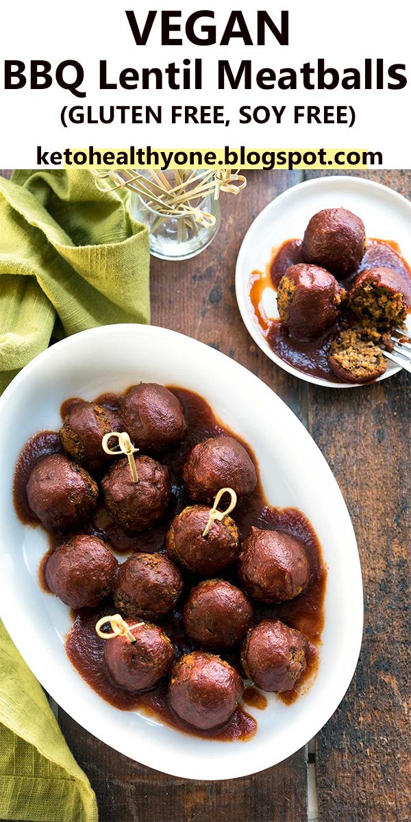 VEGAN BBQ Lentil Meatballs (GLUTEN FREE, SOY FREE) #VEGAN #BBQ #Lentil #Meatballs #(GLUTEN FREE, #SOY FREE) #VEGANBBQLentilMeatballs(GLUTENFREE,SOYFREE)