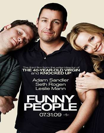 Poster Of Funny People In Dual Audio Hindi English 300MB Compressed Small Size Pc Movie Free Download Only At worldfree4u.com