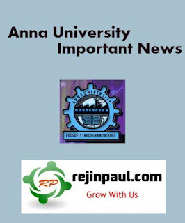 Anna University UG PG Course Materials Notifications & Important Updates