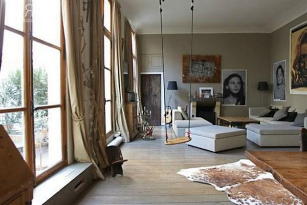 balancoire salon classique decoration originale