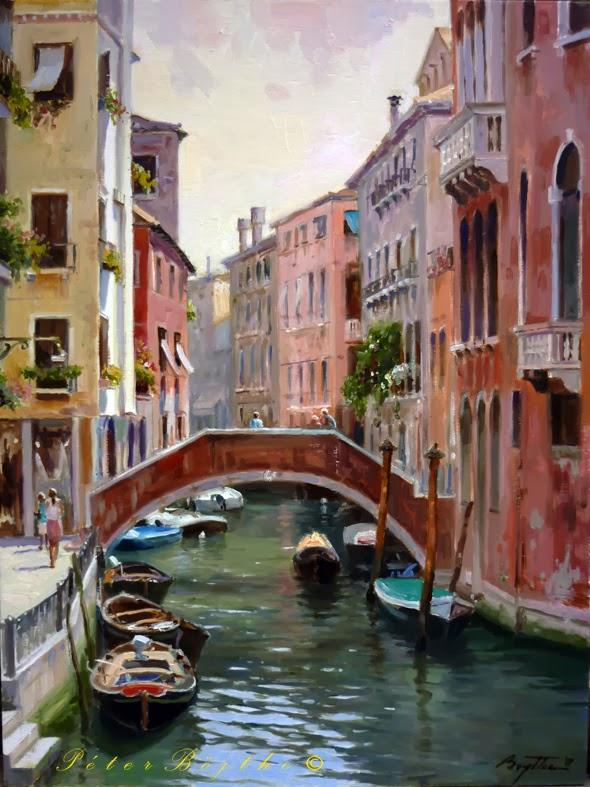 PINTURA PÉTER BOJTHE: Venecia 1