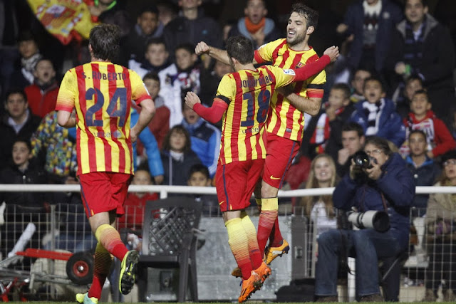 Cesc Fabregas' Excellent finish against Cartagena