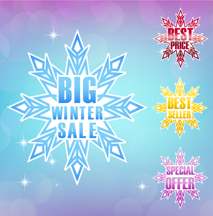Блог Колибри: Winter Sale Background 3