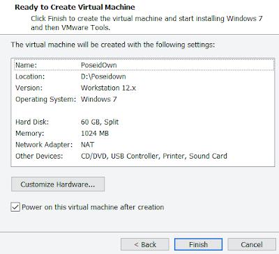 install windows 7 vmware