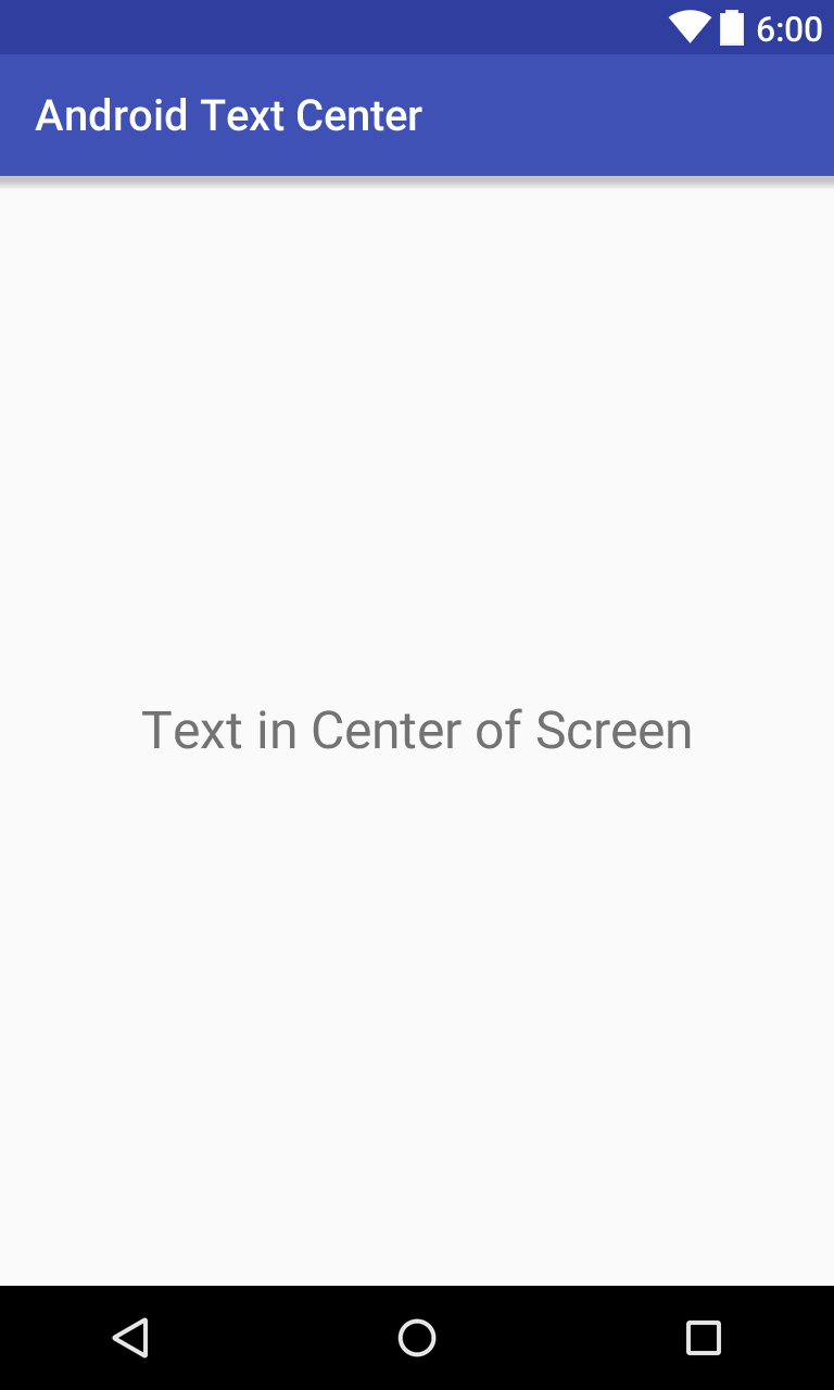 How to Align Android TextView Text Center Horizontally and Vertically