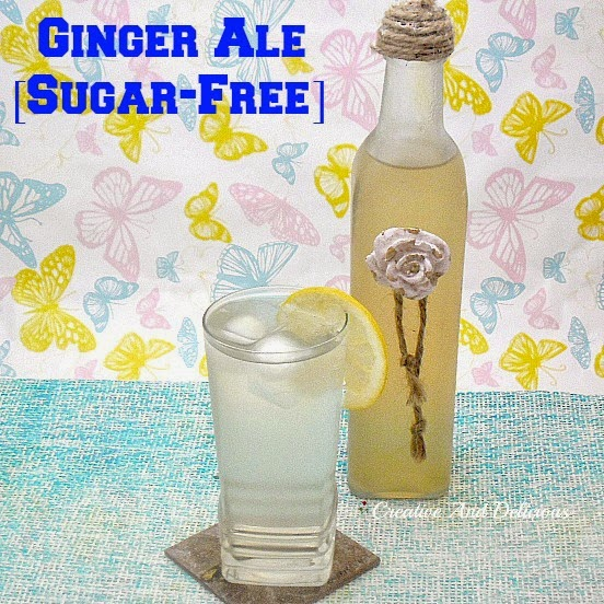 Ginger Ale {Sugar-Free} with an option of full sugar  #Drinks #Beverages #GingerAle #Cordial