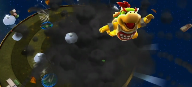 Super Mario Galaxy 2 Bowser Jr. Boomsday Machine defeated explosion blasting off again