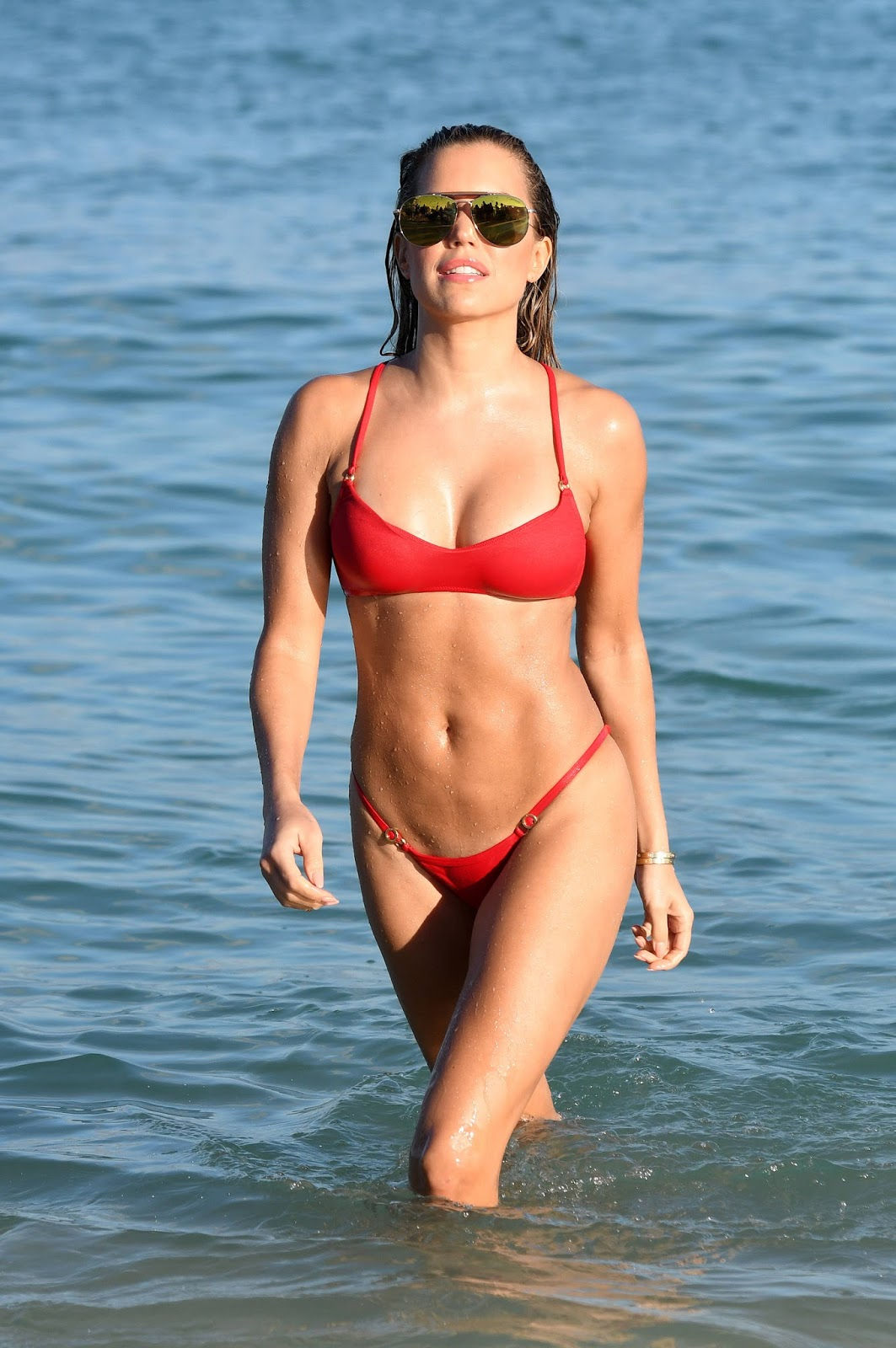 Sylvie Meis Hot in Red Bikini