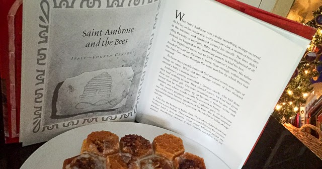 Catholic Cuisine St Ambrose And The Bees Honeycomb Cake