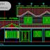 مخطط مشروع منزل عائلي من هياكل المعدنية 150m² كاملا اوتوكاد dwg