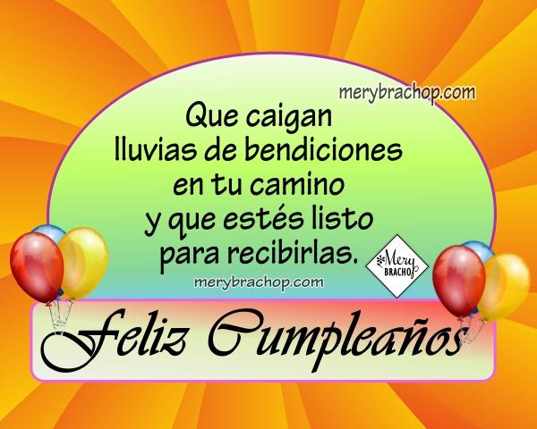 tarjeta con imagen bonita de feliz cumpleaños frases de bendiciones para amigos
