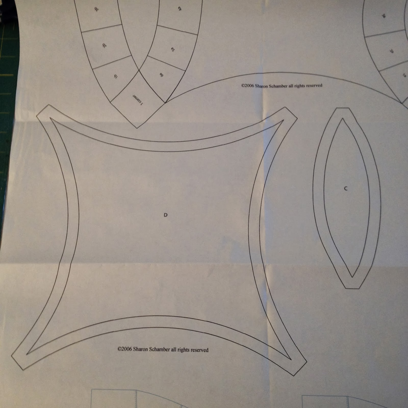 Double Wedding Ring Quilt Along Preparing The Templates
