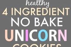 Healthy No Bake Unicorn Cookies Recipe (Vegan, Gluten Free, Paleo) #nobake #cookies #unicorn #healthycookies #vegan #glutenfree #paleo #healthydesserts