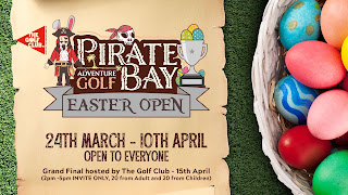 Pirate Bay Easter Open minigolf competition in Guernsey