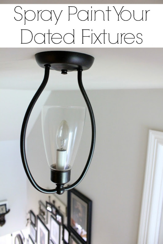Spray Paint Your Fixtures for an Easy and Affordable Update