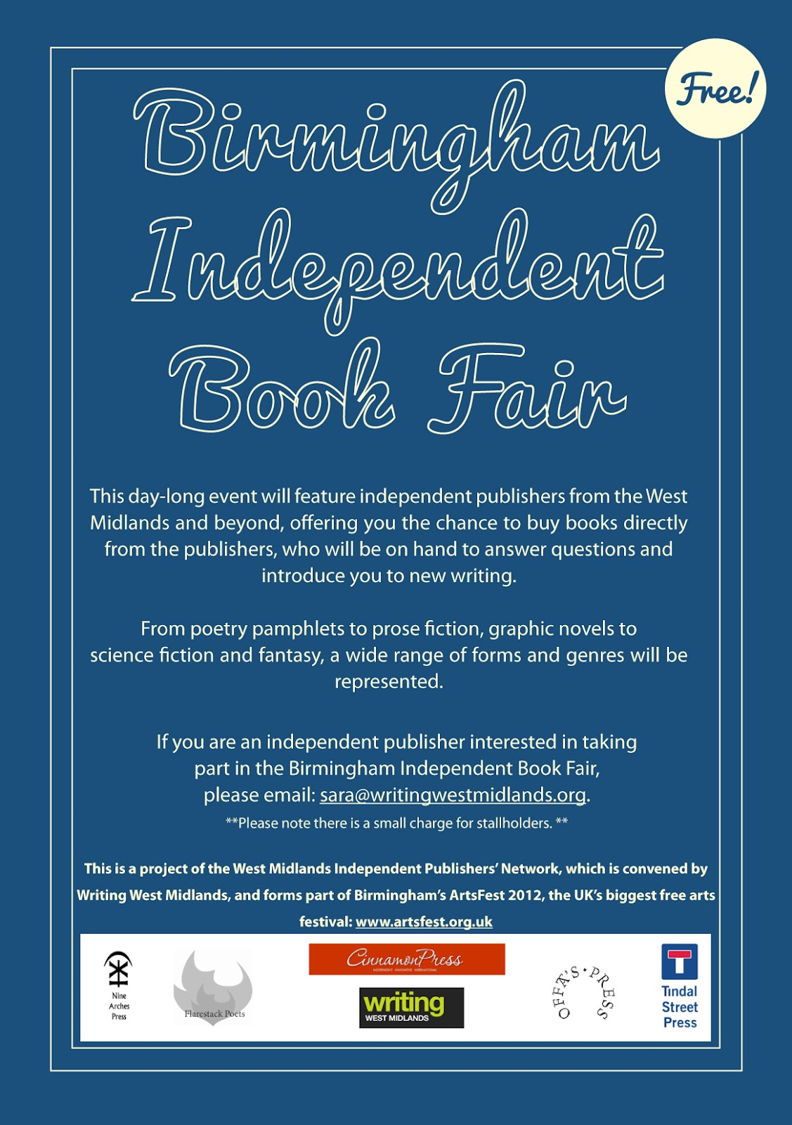 Independent Publishers Group: Nine Arches Press: Independent Book Fairs: Birmingham & London