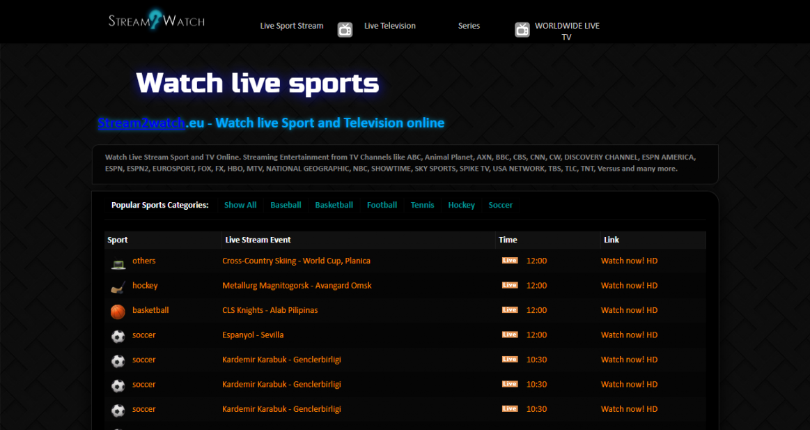 {^Top^} Sports Streaming sites to Watch Live sports ...