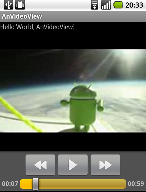 Android Coding: A simple example using VideoView to play 3gp